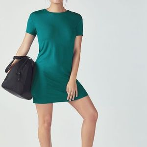 Fabletics Finley Dress Forest Green T Strap Mini L